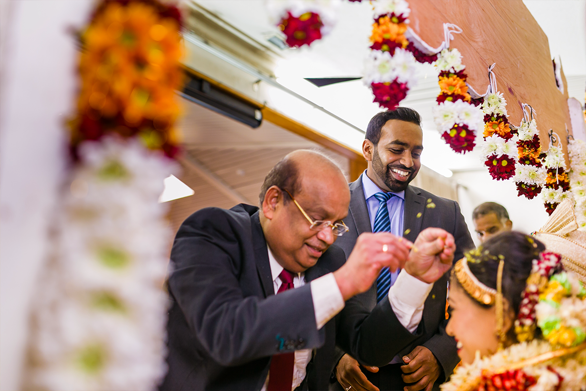 Wedding Blessing - Oshwal Centre Vaheesan & Gerubaleny's Tamil Hindu Wedding London